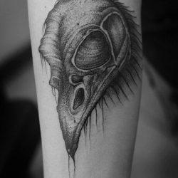 Totenkopf Tattoo Eines Raben