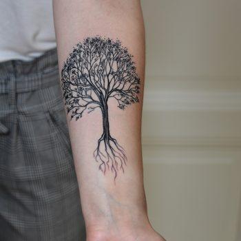Baum Des Lebens Tätowiert Am Innenarm