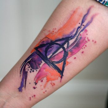 Calligraphic Aquarell Tattoo Harry Potter