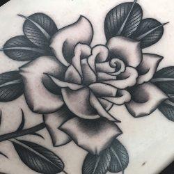 Klassisches Rosen Tattoo