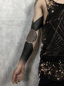 Blackwork Tattoo Arm Sleeve