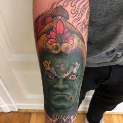 Krieger Kopf Tattoo Japanischer Stil