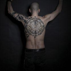 Maori Tattoo Oberkörper
