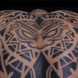 Polinesisches Tattoo Close Up