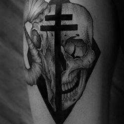 Totenkopf Und Widder Tattoo