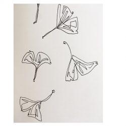 Linework Tattoo Eines Gingko Blattes
