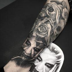 Black And Grey Dark Tattoo