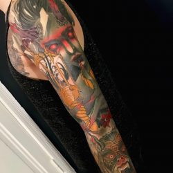 Tattoo Sleeve Im Bunten Neo Traditional Stil