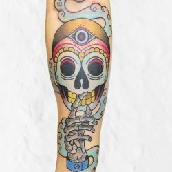Old School Tattoo Skull