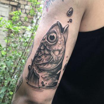 Fischkopf Tattoo