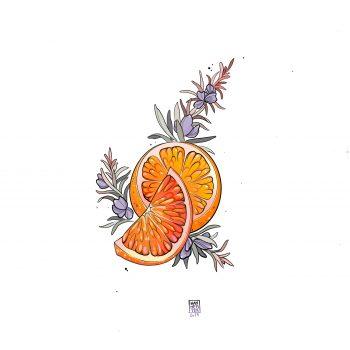 Orange Mit Lavendel Tattoo Design Von Mathilde