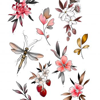 Kleine Florale Wanna Do Designs Von Mathilde