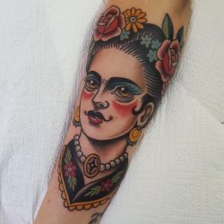 Traditional Tattoo Design Frida Kahlo