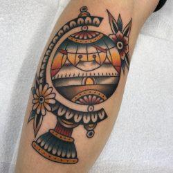 Old School Globus Tattoo
