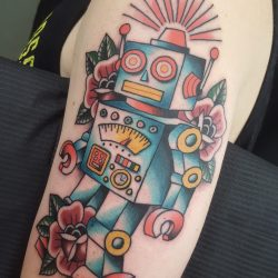 Roboter Tattoo